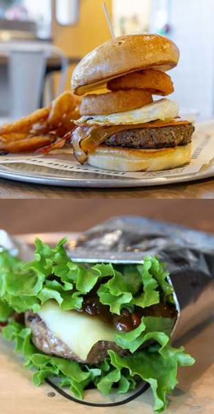 BGR burgers grilled to perfection, served on bun or on lettuce